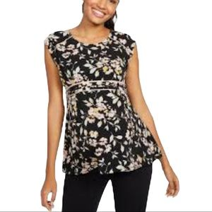 MOTHERHOOD MATERNITY FLORAL TOP